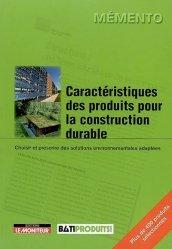 Souvent acheté avec Cabanons à vivre rêveries, écologie et conseils, le Caractéristiques des produits pour la construction durable