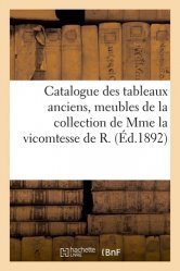 Dernières parutions sur Art populaire, Catalogue des tableaux anciens, meubles du temps de Louis XVI, céramique variée, objets divers de la collection de Mme la vicomtesse de R.