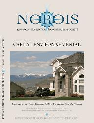 Dernières parutions dans Norois, Capital environnemental