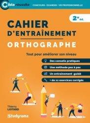 Dernières parutions dans Tous concours, Cahier d'entraînement orthographe