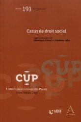 Dernières parutions dans Commission Université-Palais, Casus de droit social