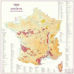 Dernières parutions dans Posters, Carte de France des Vins et Eaux-de-Vie d'Appellation d'Origine