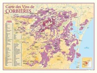 Dernières parutions sur Cartes, Carte des Vins de Corbières