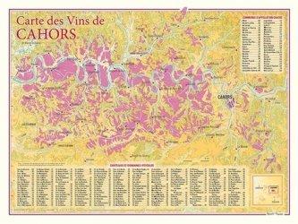 Dernières parutions sur Cartes, Carte des Vins de Cahors