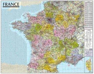 Dernières parutions sur Cartes thématiques, Carte murale laminée de France sans barres. 1/1050 000