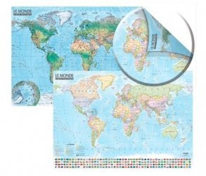 Dernières parutions sur Cartes monde, Carte du Monde : politique et physique. Sans barres