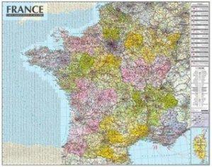 Dernières parutions sur Cartes thématiques, Carte murale laminée de France avec barres. 1/1050 000