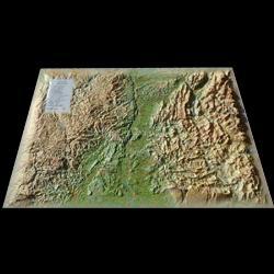 Dernières parutions sur Cartes et guides géologiques, Carte en relief de la Drôme-Ardèche