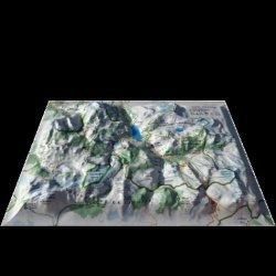Dernières parutions sur Cartes monde, Carte en relief des stations de Tignes-Val d'Isére