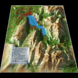 Dernières parutions sur Cartes monde, Carte en relief du Lac d'Annecy