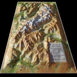 Dernières parutions sur Cartes monde, Carte en relief du Tour du Mont Blanc