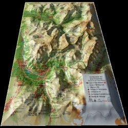 Dernières parutions sur Cartes monde, Carte en relief du  Massif du Haut-Giffre (réserve de Sixt-Passy)