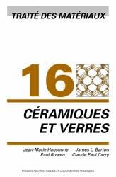 Dernières parutions dans Traité des matériaux, Céramiques et verres (TM volume 16)