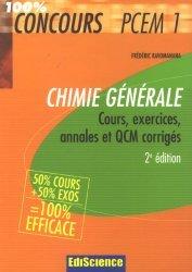 Souvent acheté avec Biologie cellulaire, le Chimie générale PCEM 1