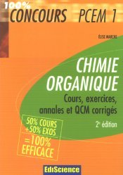 Souvent acheté avec Fiches de révisions en chimie générale, le Chimie organique