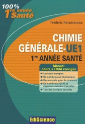 Souvent acheté avec QCM de physique et de biophysique, le Chimie générale - UE1