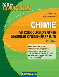 Souvent acheté avec Annales corrigées concours Kiné, le Chimie au concours d'entrée masseur-kinésithérapeute