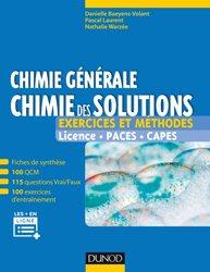 Dernières parutions sur Chimie générale, Chimie générale : chimie des solutions
