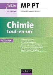 Dernières parutions sur 2ème année, Chimie tout-en-un MP-PT