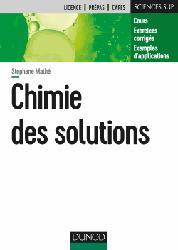 Dernières parutions sur LMD, Chimie des solutions