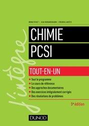 Dernières parutions dans J'intègre, Chimie PCSI  tout-en-un