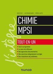 Dernières parutions dans J'intègre, Chimie MPSI Tout-en-un
