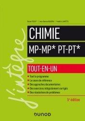 Dernières parutions dans J'intègre, Chimie MP/MP*-PT/PT*