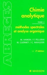 Nouvelle édition Chimie analytique Tome 3