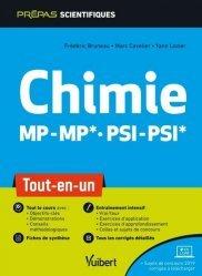 Dernières parutions dans Prépas scientifiques, Chimie MP/MP PSI/PSI