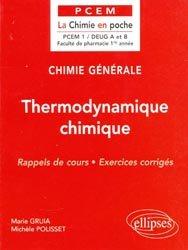 Souvent acheté avec Physique, le Thermodynamique chimique