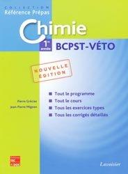 Souvent acheté avec Method'bio Mathématiques BCPST  1er année, le Chimie 1ère année BCPST - VÉTO