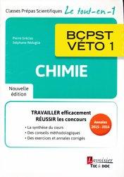 Dernières parutions sur BCPST 1ère année, Chimie BCPST - VÉTO 1