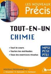 Dernières parutions dans Les nouveaux précis, Tout-en-un Chimie  MPSI- PCSI - PTSI