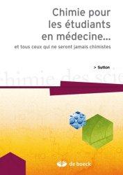 Dernières parutions sur UE1 Chimie, Chimie pour les étudiants en médecine...