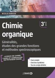 Dernières parutions sur Chimie organique, Chimie organique 1er cycle