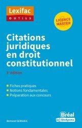 Dernières parutions sur Droit constitutionnel, Citations juridiques en droit constitutionnel