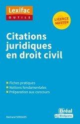 Dernières parutions sur Lexiques et dictionnaires, Citations juridiques en droit civil