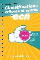Souvent acheté avec Les annales en QRM DE 2009 à 2019 – Lecture critique d'un article Médical, le Classifications, critères et scores aux ECN