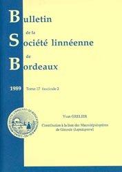Dernières parutions dans Bulletin de la Société Linnéenne de Bordeaux, Contribution à la liste des Macrolépidoptères de Gironde