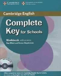 Dernières parutions sur KET, Complete Key for Schools - Workbook with Answers with Audio CD