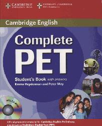 Dernières parutions dans Complete PET, Complete PET - Student's Book with answers with CD-ROM