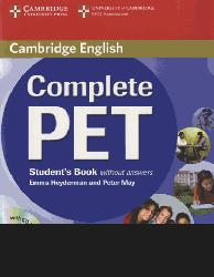Dernières parutions dans Complete PET, Complete PET - Student's Book without answers with CD-ROM