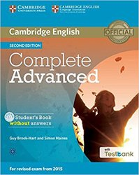 Dernières parutions dans Complete Advanced, Complete Advanced - Student's Book without Answers with CD-ROM with Testbank