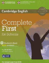 Dernières parutions dans Complete First for Schools, Complete First for Schools - Student's Book with Answers with CD-ROM
