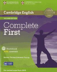 Dernières parutions dans Complete First, Complete First - Workbook with Answers with Audio CD