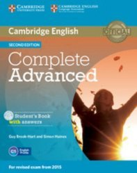 Nouvelle édition Complete Advanced - Student's Book with Answers with CD-ROM
