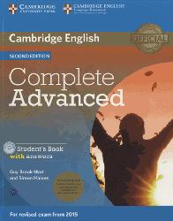 Dernières parutions dans Complete Advanced, Complete Advanced - Student's Book Pack (Student's Book with Answers with CD-ROM and Class Audio CDs (2))