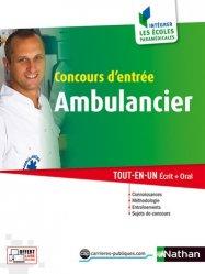 Souvent acheté avec Concours ambulancier 2016-2017 tout en un, le Concours d'entrée Ambulancier