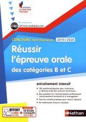 Dernières parutions dans Intégrer la fonction publique, Concours territoriaux. Réussir l'épreuve orale des catégories B et C, Edition 2019-2020