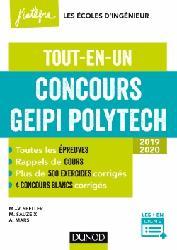 Dernières parutions sur Concours maths, Concours Geipi Polytech - Tout-en-un 2019-2020